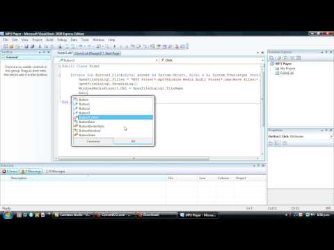 Visual Basic 2008 Tutorial 3 - Create a Basic MP3 Player