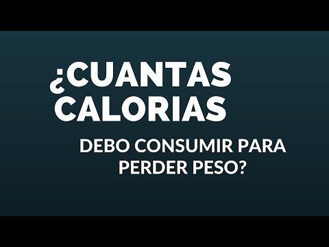 ¿Cuántas calorías debo consumir para bajar de peso?