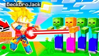 MORPHING Into A SUPER SAIYAN In MINECRAFT!