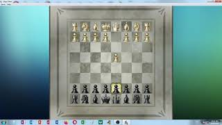 Chess Titans - level 5 - playing both white and black against the computer on Windows 7 in 4k HD