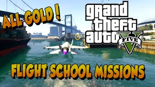 GTA5: All Flight School Missions Gold Medals (Tutorial / Playthrough) Grand Theft Auto V Multiplayer