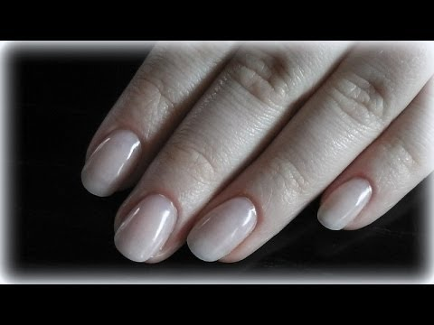 tutorial- how to fill acrylic nails- natural nail overlay - YouTube
