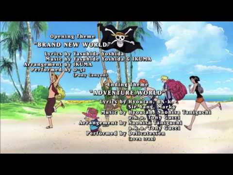 One Piece Opening 6 - Brand New World - Funimation Credits