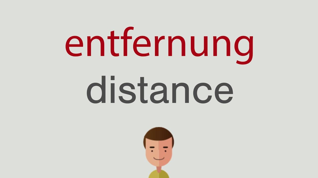 Entfernung Auf Englisch