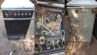 Repair and Restore 3 Gas And 1 Electric Cooker With Oven