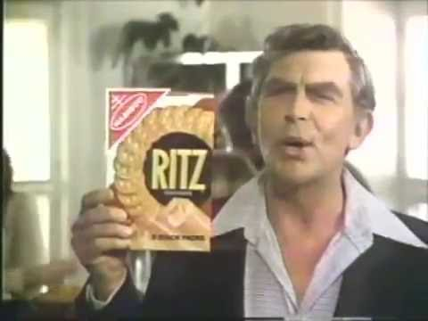 Andy Griffith 1978 Ritz Crackers Commercial
