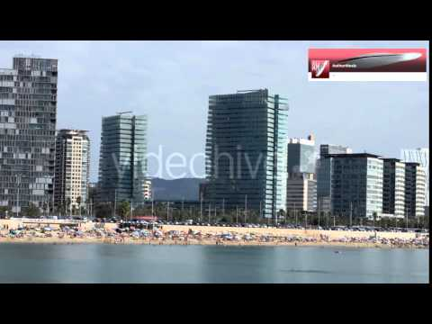 Stock Video Footage | Beach Activities in Big City