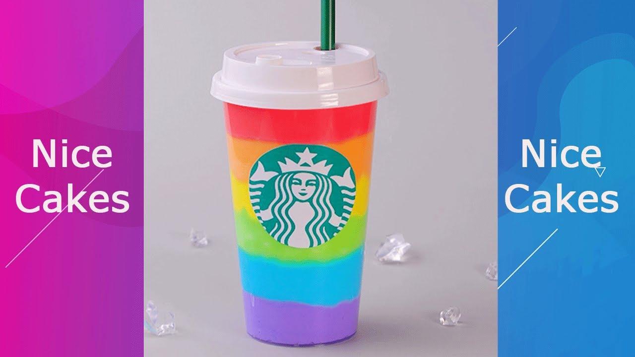 Rainbow Starbucks Milkshakes Hacks #Shorts