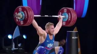 Wesley Kitts Senior American Record Snatch 176 kg (388 lb) - 105 kg Weight Class (WWC 2017)