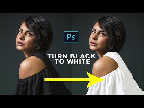 How To Change Color Of A Black Dress In Photoshop|Turn Black Dress To White In Photoshop