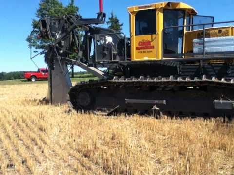 Bron 450 Self Propelled Drainage Plow Youtube