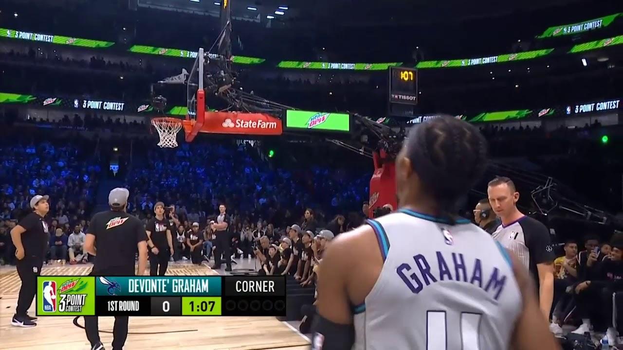 Devonte Graham 1st Round | 2020 NBA 3-Point Contest