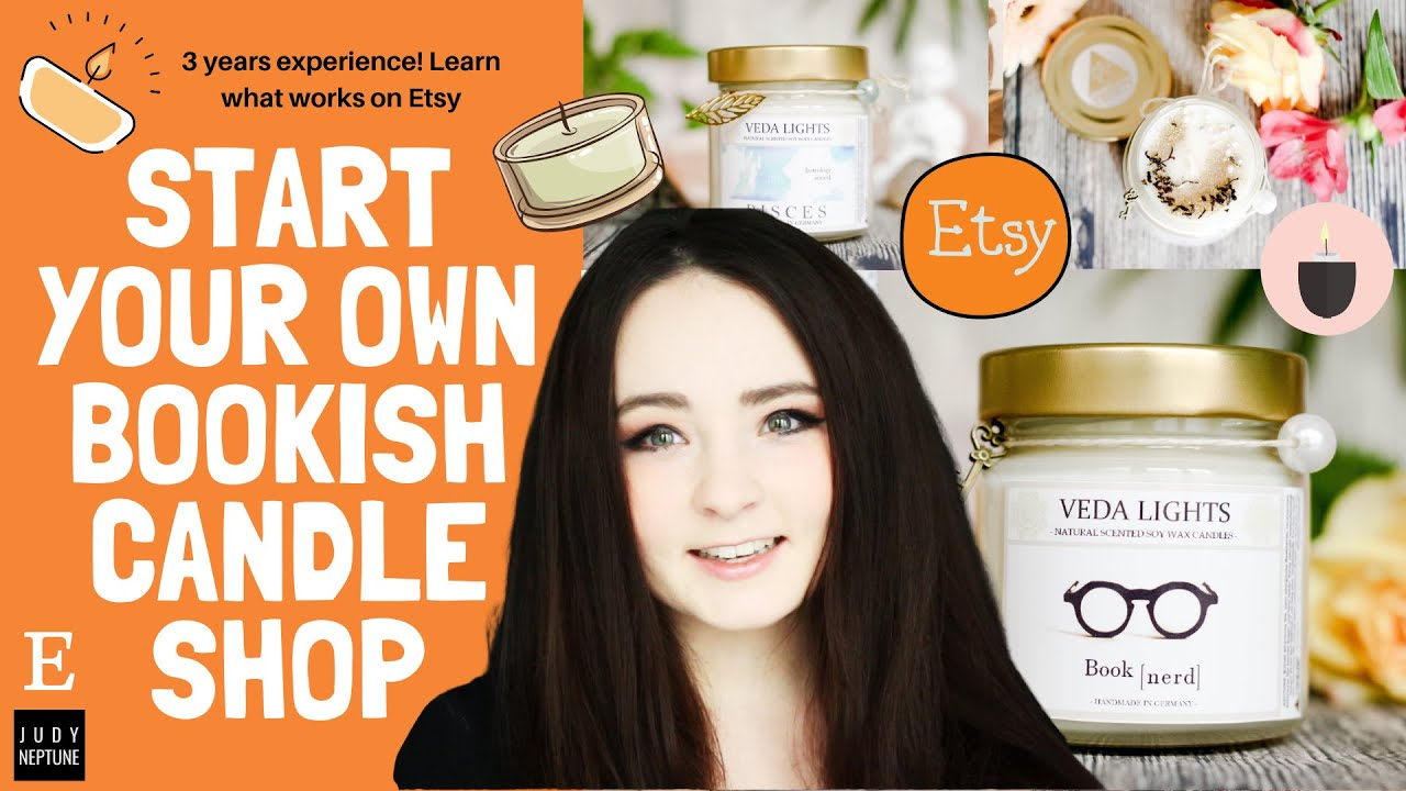 ✧Create your own bookish candle Etsy shop | 3 years of experience ❥ Earn $$ from home as a student!