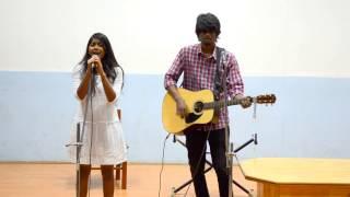 aathadi aathadi(acoustic cover)- Ashish noel & Priya || IITM LM Solo ||