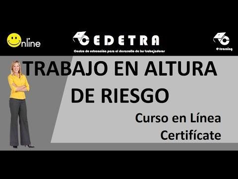 TRABAJOS EN ALTURA DE RIESGO / CAPACITACIÓN EN LINEA / CERTIFICATE