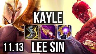 KAYLE vs LEE SIN (TOP) | 1100+…