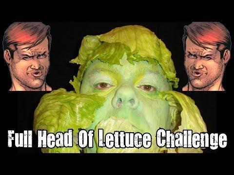 Full Head Of Lettuce Challenge *Cringe Alert*