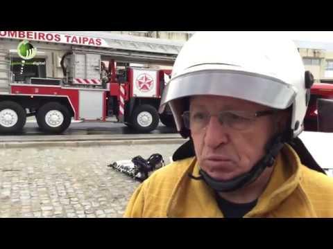 Incêndio provocou danos em fábrica de meias na freguesia de Santo Estêvão de Briteiros