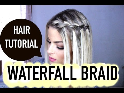 How to: waterfall braid step by step tutorial