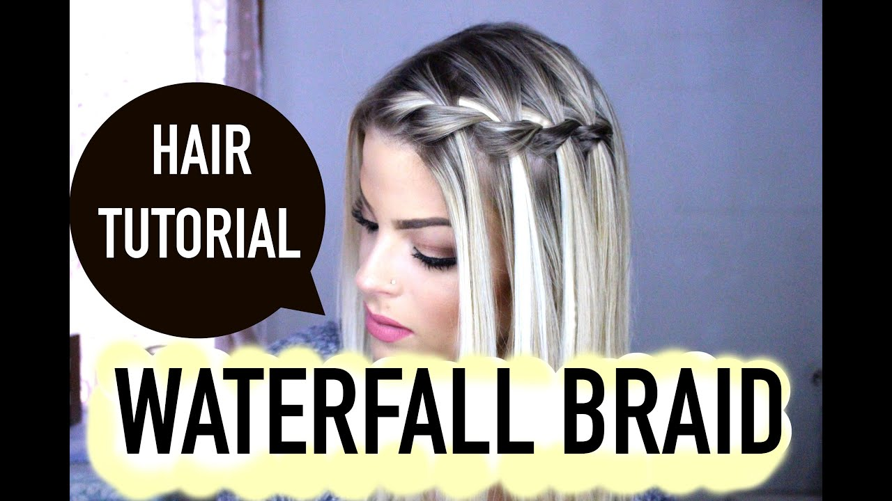 How to waterfall braid step by step valerie pac youtube ccuart Image collections