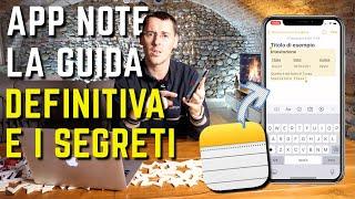 iPhone APP NOTE la GUIDA DEFINITIVA per usare TUTTE LE FUNZIONI