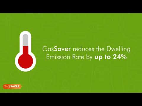GasSaver improves SAP ratings by reducing the Dwelling Emission Rate (DER)