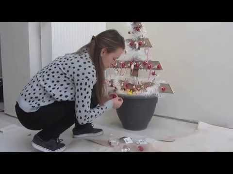 Make a wooden christmas tree - DIY creative xmas tree