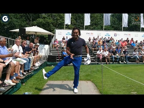 ING Private Banking Golfweek: Christian Karembeu showt zijn moves