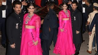 Sonam Kapoor And Anil Kapoor At Isha Ambani & Anand Piramal Wedding