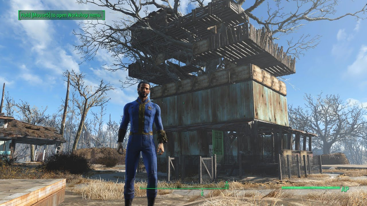 Fallout 4 my first base tree house youtube for Best house designs fallout 4