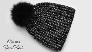 Модная шапка крючком. Мастер класс. Crochet hat / tutorial