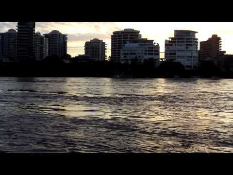 Brisbane Floods Eagle Street waterfront