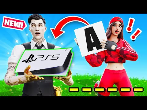 GUESS THE WORD and WIN a PS5 with My Girlfriend! (Fortnite)