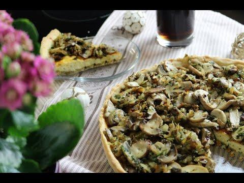 tarte-aux-champignons-et-fromages-فطيرة-بالفطر-والجبن-cheese-and-mushroom-tart