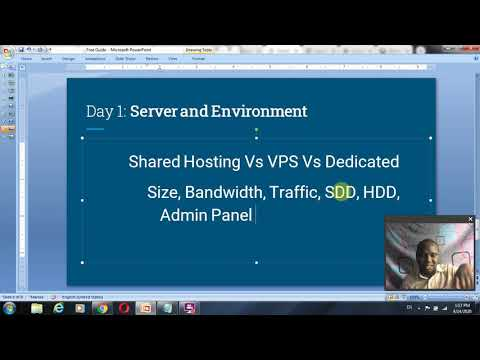 7 days Web Development and Affiliate Marketing Guide Server and Domain