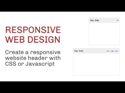 Create A Responsive Header/Masthead