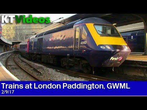Trains at London Paddington, GWML - 2/9/17