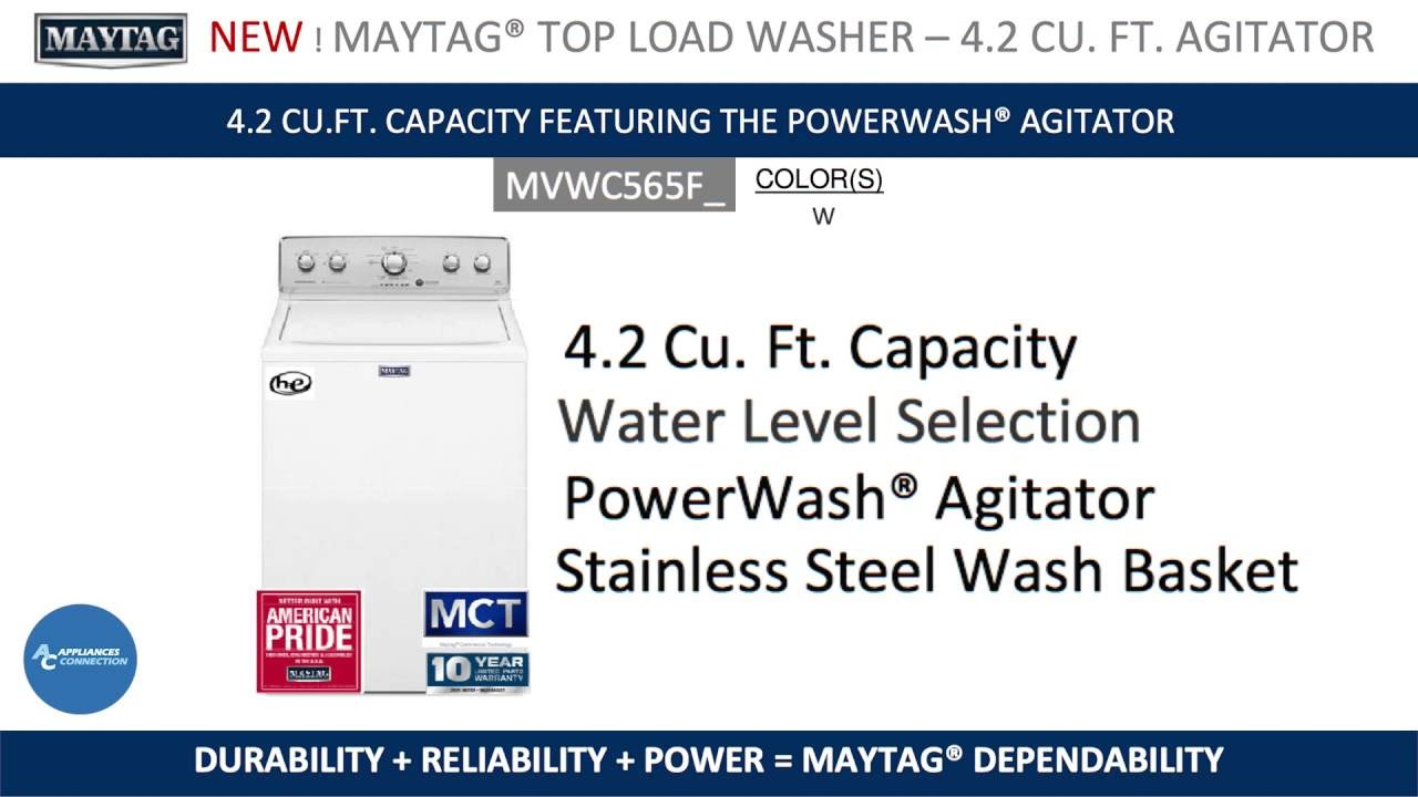The best top load washer with agitator - Maytag 28 Top Load Washer Mvwc565f At Appliancesconnection Com