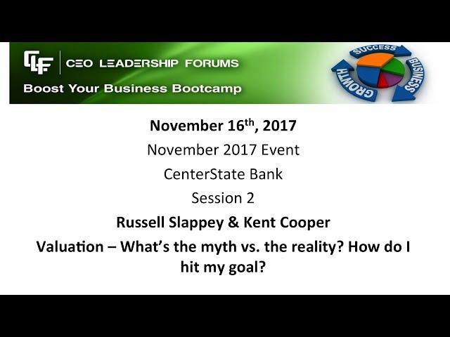 2017 11 16 CEO Leadership Forums - Session 02 Slappey & Cooper & Cohen