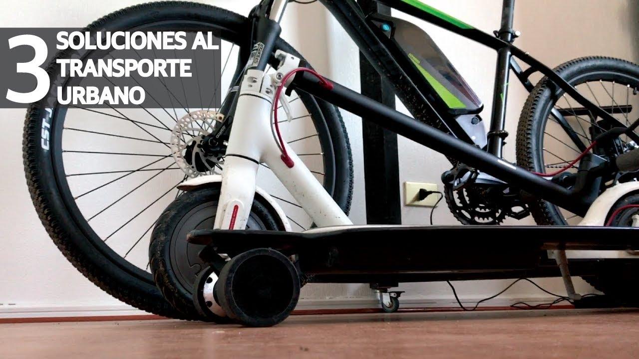 3 Medios de Transporte Eléctricos y Económicos para la Ciudad! Skate vs Scooter vs Bicicleta!