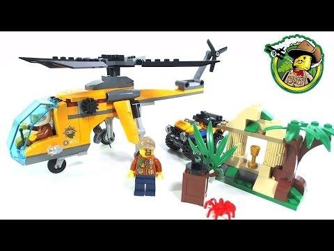 LEGO City Jungle Cargo Helicopter 60158: Speed Build - YouTube