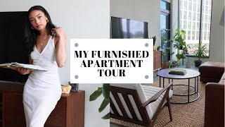 MY FURNISHED APARTMENT TOUR | LIVING ON MY OWN | TACHA J