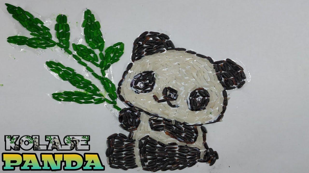 Menggambar Panda Bambu Pemandangan Drawing Panda Bamboo Lanscape Cara Menggambar Gambar Pemandangan