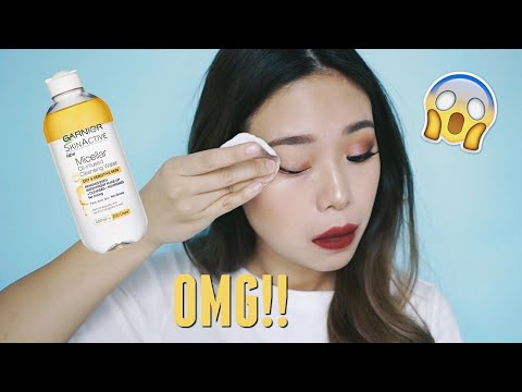 NEW GARNIER MICELLAR WATER OIL REVIEW | First Impression & Demo