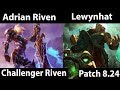 [ Adrian Riven ] Riven vs Illaoi [ Lewynhat ] Top  - Educational matchups today