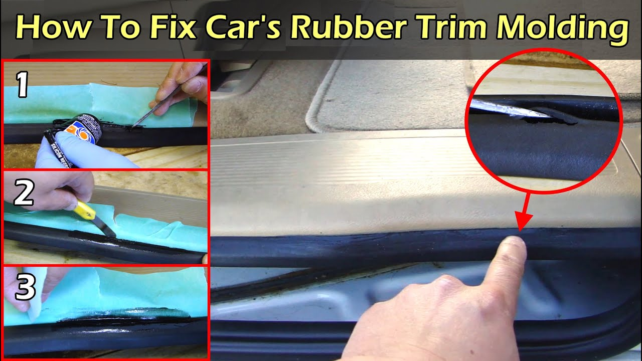 How To Fix Car S Rubber Edge Trim Molding Youtube