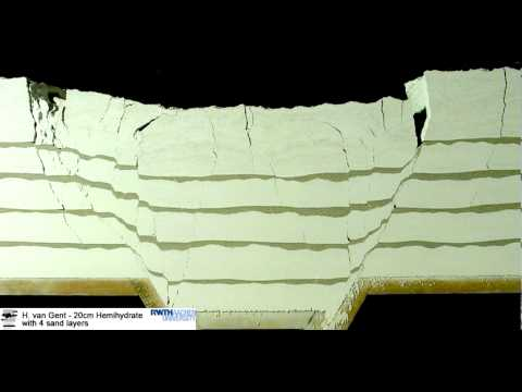 Open fractures in cohesive powder with sand layers (Structural Geology)