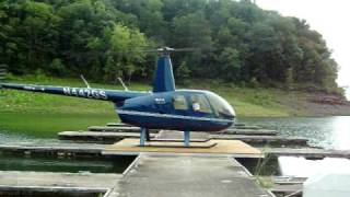 Robinson R-44 Raven Ii Startup And Takeoff From Helipad At State Dock Lake Cumberland