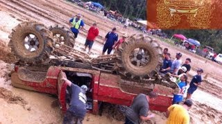 Repeat youtube video SCARY SCARY WRECK @ TROUT CREEK MUD BOGG!!