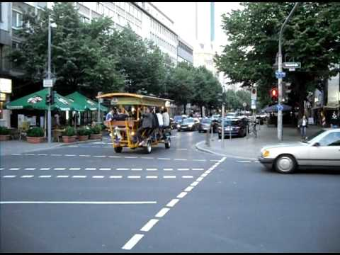 mobile pub, on the streets of Frankfurt